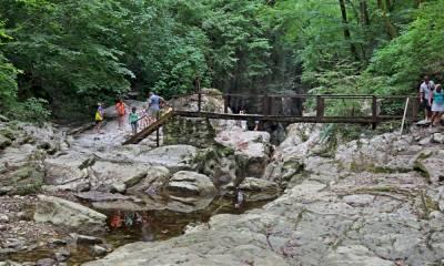 Агурские водопады координаты