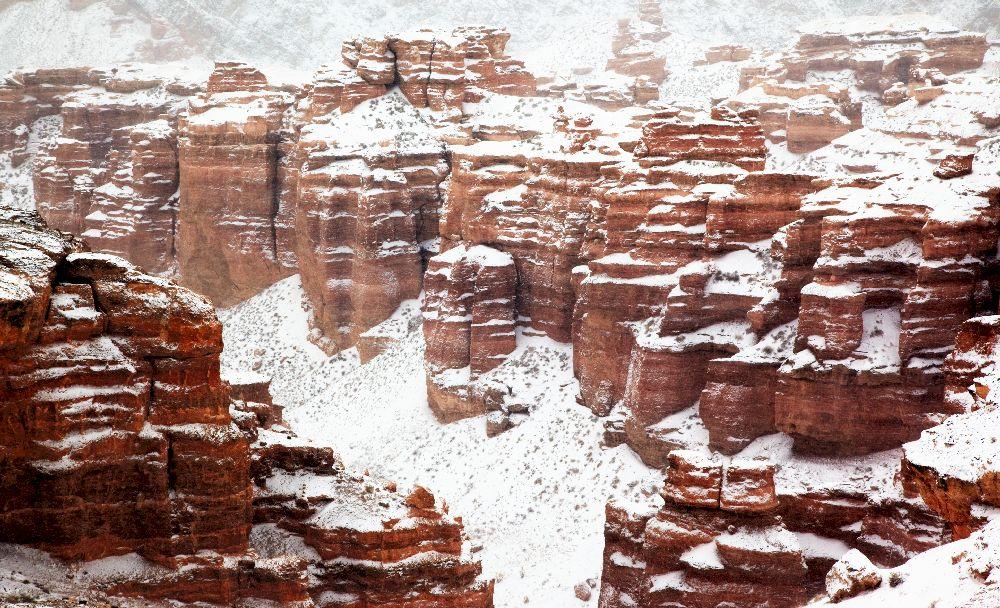 Чарынский каньон зимой