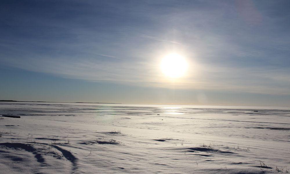 Чудское озеро зимой