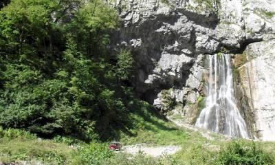 Гегский водопад на машине