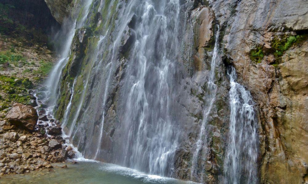 Гегский водопад координаты на карте